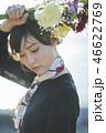 女性 花束 人物の写真 46622769