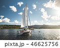 Tourists on the sailing yacht. Northern Ireland. 46625756