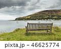 Close-up bench on the Scottish shore. The bayview. 46625774