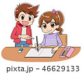 勉強 子供 小学生のイラスト 46629133