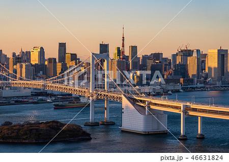 《東京都》東京ウォーターフロント・夕景 46631824