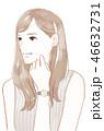 女性 腕時計 20代のイラスト 46632731