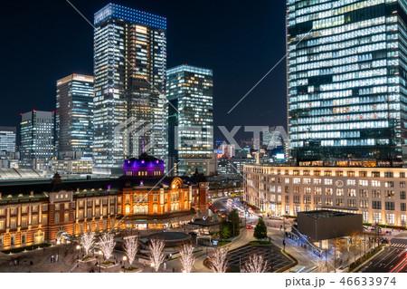 東京駅 丸の内 夜景 ライトアップ イルミネーション 46633974