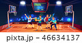 バスケ バスケットボール ゲームのイラスト 46634137
