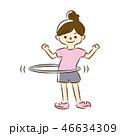 運動 女性 フィットネスのイラスト 46634309