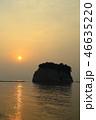 朝日 海 日の出の写真 46635220