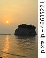 朝日 海 日の出の写真 46635221