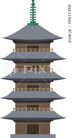 五重塔のイラスト素材 46635368 Pixta