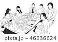 レストラン 飲食店 ディナーのイラスト 46636624