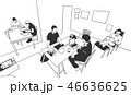 オフィス チーム PCのイラスト 46636625