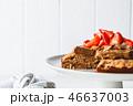 ケーキ チョコレート クリームの写真 46637003