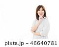 女性 考える アジア人の写真 46640781