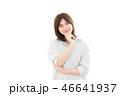 女性 考える アジア人の写真 46641937