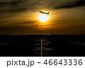 飛行機 旅客機 航空機の写真 46643336