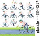 男性 ビジネスマン 自転車のイラスト 46644217