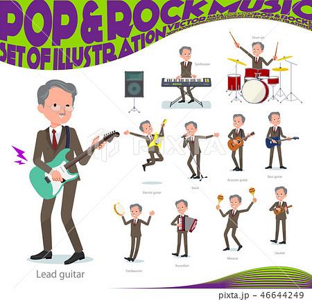 flat type Double suit old men_pop music 46644249