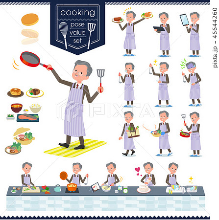 flat type Double suit old men_cooking 46644260