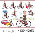 男性 ビジネスマン 自転車のイラスト 46644263