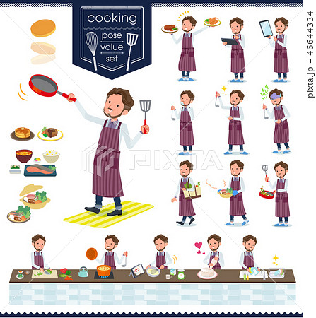 flat type wild Middle aged men_cooking 46644334