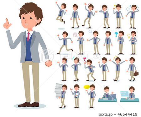 flat type Jacket blue vest men_emotion 46644419