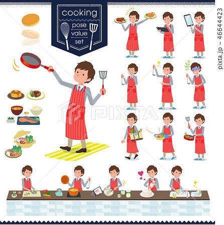 flat type Jacket blue vest men_cooking 46644423
