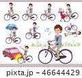 男性 自転車 サイクリングのイラスト 46644429