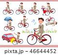 男性 ビジネスマン 自転車のイラスト 46644452