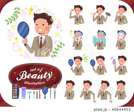 flat type Beige suit beard man_beauty 46644453