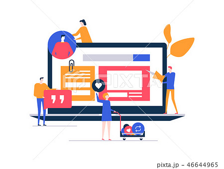 SMM strategy - flat design style colorful illustration 46644965