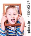 フレーム 枠 子供の写真 46646217