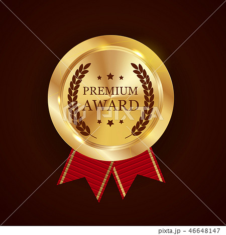 Premium Award Gold Medal. Vector Illustration 46648147