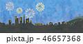 花火と街並みのイラスト 46657368