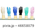 rubber medical gloves of different colors isolated   46658079