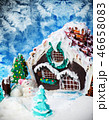 gingerbread house, snowman and Christmas trees of sweets and mas 46658083
