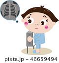 X線検査 レントゲン 健康診断のイラスト 46659494