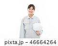 女性 ビジネスウーマン 白バックの写真 46664264