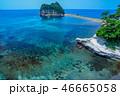トンボロ現象 海 干潮の写真 46665058