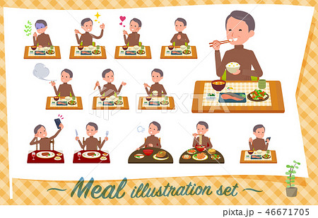 flat type high neck Middle men_Meal 46671705
