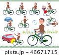 男性 中年 自転車のイラスト 46671715
