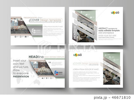 Set of business templates for presentation slides. Easy editable abstract vector layouts in flat 46671810