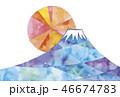 富士山と初日の出のイラスト 46674783