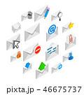 郵便 アイコン セットのイラスト 46675737