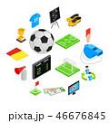 サッカー フットボール 蹴球のイラスト 46676845