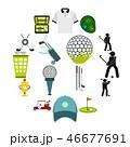 GOLF ゴルフ アイコンのイラスト 46677691
