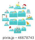 スポーツ アイコン ベクトルのイラスト 46678743