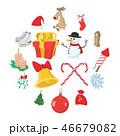 クリスマス アイコン セットのイラスト 46679082