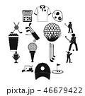 GOLF ゴルフ アイコンのイラスト 46679422