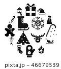 16 クリスマス アイコンのイラスト 46679539