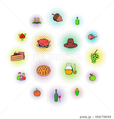 Thanksgiving Day set icons 46679699