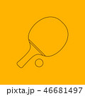 卓球 ピンポン ラケットのイラスト 46681497